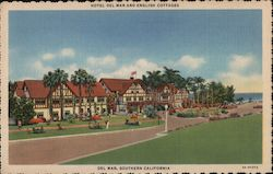 Hotel Del Mar and English Cottages Postcard