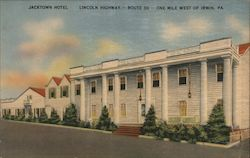 Jacktown Hotel - Lincoln Highway - Route 30 - One mile west of Irwin, PA. Postcard