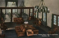 Interior, Enlisted Men's Club, Ft. McClellan Postcard