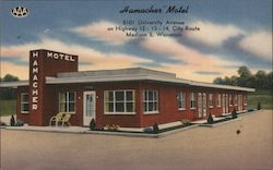 Hamcher Motel - 5101 University Avenue on Highway 12-13-14, city route Postcard