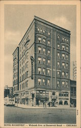 Hotel Roosevelt - Wabash Ave. at Roosevelt Road Postcard