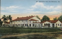The Recreation Hall At Fort McClellan Postcard