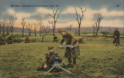 Machine gunners Postcard