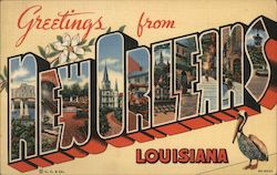 Greetings from New Orleans Louisiana Postcard