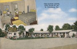 The Ranch Motel - 3701 Fourth St. No. Postcard