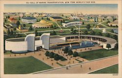 Hall of Marine Transportation, New York World's Fair 1939 Postcard