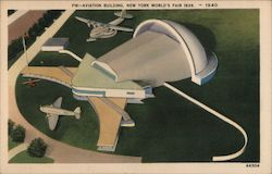 Aviation Building - New York World's Fair 1939 Postcard
