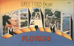 Greetings from Miami Florida Postcard