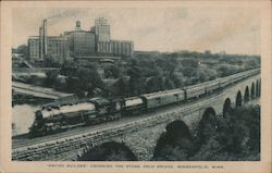 """Empire Builder"" Crossing the Stone Arch Bridge Postcard"
