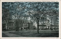 Carnegie Library and Graduate School of Theology - Oberlin College Postcard