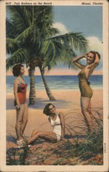 Fair Bathers on the Beach Postcard