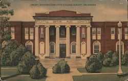 Library, Southeastern State College Postcard