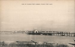 View of Hyannis Port Harbor Postcard