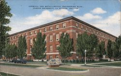 Chemical and Metallurical Engineering Bldg. Purdue University Postcard