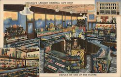 Chicago's largest Oriental Gift Shop - Display on one of the floors Postcard