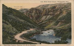 Wind River Canyon Postcard
