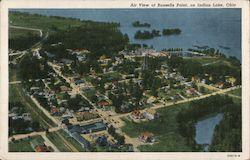 Air View of Russells Point on Indian Lake Postcard