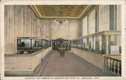 Interior, The Commercial Banking and Trust Co. Postcard