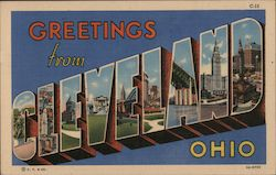 Greetings from Cleveland Ohio Postcard