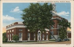 Post Office and Municipal Building Postcard