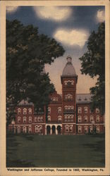 Washington and Jefferson College, Founded in 1802 Postcard