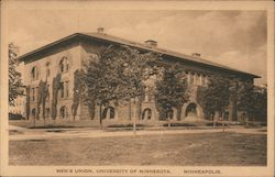 Men's Union, University of Minnesota Postcard