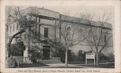 Army and Navy Masonic Sevice Center - Masonic Temple Postcard