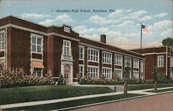 Anniston High School Postcard