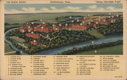 The Baylor School - Along Cherokee Trail Postcard