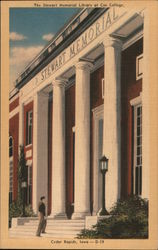 The Stewart Memorial Library at Coe College Postcard