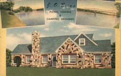 J.O. Bean's Picnic, Fishing & Camping Grounds Postcard