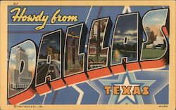 Howdy from Dallas Texas Postcard