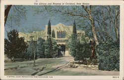 The Library and Museum at Carlsbad, New Mexico Postcard