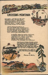 Crossing Montana by Florence J. Wallin Postcard