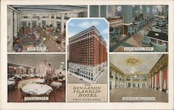 The Benjamin Franklin Hotel - Lobby, Cocktail bar, Coral Cafe, Crystal Ballroom Postcard