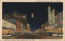 "Park Street, Looking North from Ninth, The Best Lighted ""Main Street"" in America!"