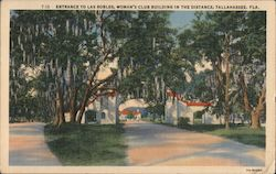 Entrance to Las Robles, Woman's Club Building in the Distance Postcard