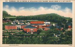 Panoramic View of Portion of Appalachian State Teachers' College, Alt. 3,333 Ft. Postcard