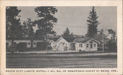 South City Limits Motel - 1 Mi. So. of Downtown - Hiway 97 Postcard