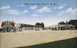 Long's Illinois State Line on Rt. No. 30 Postcard