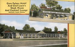 Corn Palace Motel and Chef Louie's Steak House and Cocktail Lounge Postcard