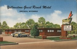 Yellowstone Guest Ranch Motel Postcard