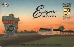 Esquire Motel - On Route 6, Fall River Ave Postcard