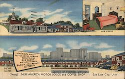 Covey's New America Motor Lodge and Coffee Shop Postcard