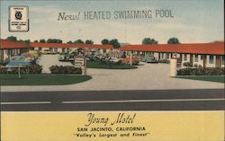 "Young Motel - ""Valley's largest and finest"" Postcard"