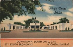 Plaza Court Motel, Downtown, South on U.S. 81, 1237 South Broadway Postcard