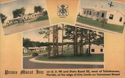 Prince Murat Inn on U.S. 90 and State Road 20 Postcard