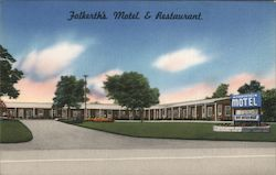 Falkerth's Motel & Restaurant Postcard