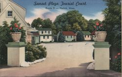Sunset Plaza Tourist Court - Route 9 Postcard