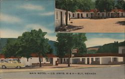 Main Motel Postcard